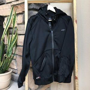 Black Alpine Stars hooded jacket